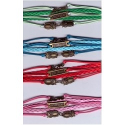 Pulsera love, best friend y buhos