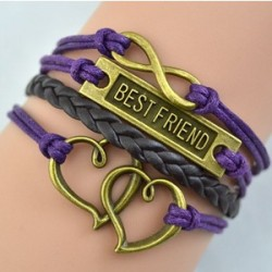 Pulsera best friend trenza negra