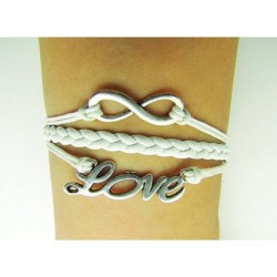 Pulsera infinito - love mini