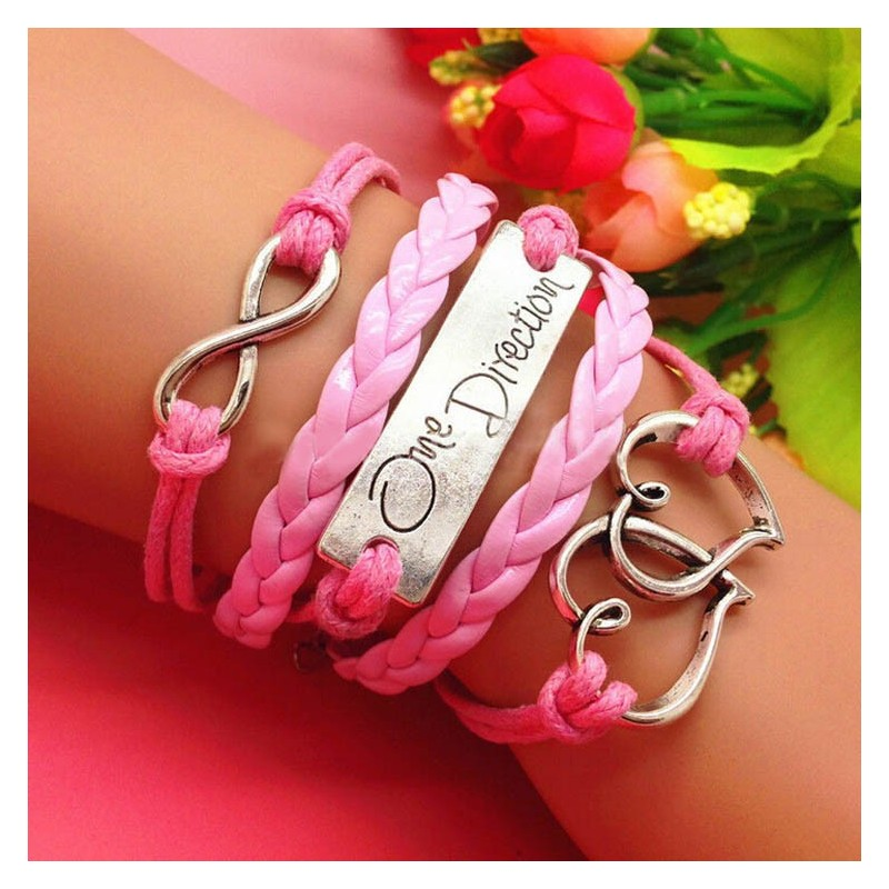 Pulsera infiniti, corazon y one direction