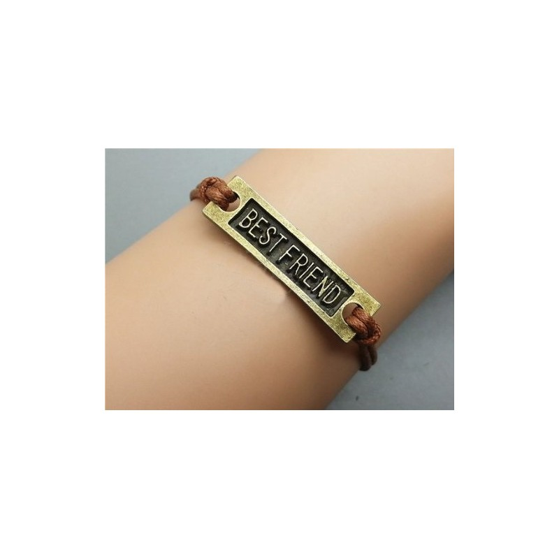 Pulsera best friend bronce
